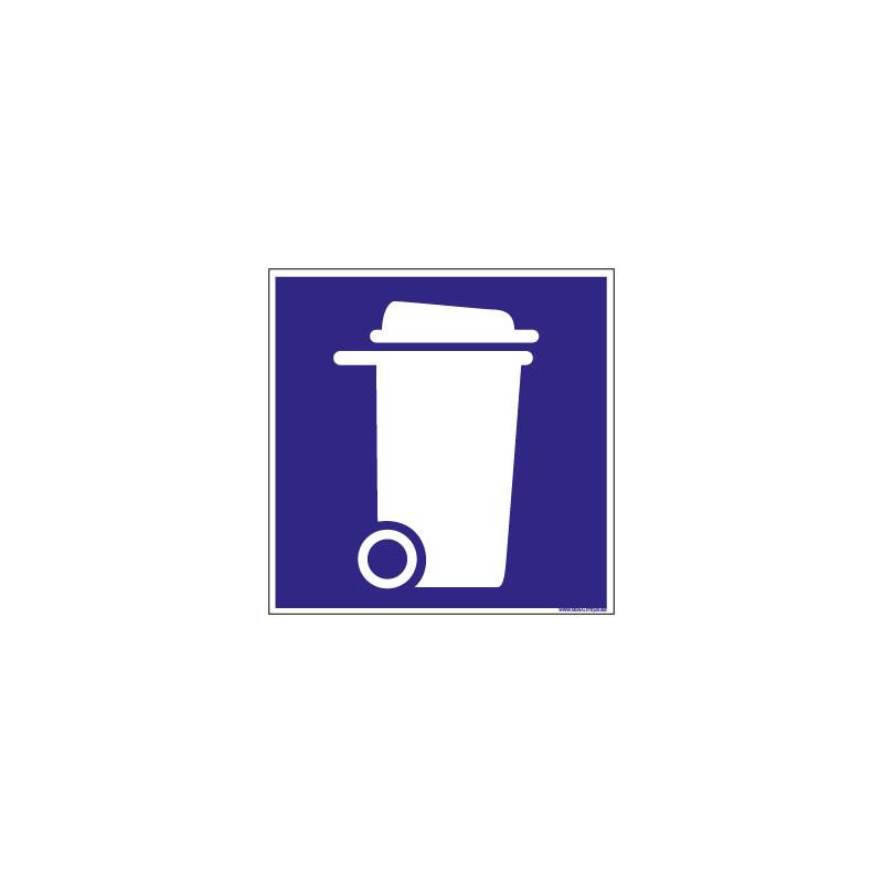 PANNEAU DE SIGNALISATION CAMPING LOCAL POUBELLES (H0214)