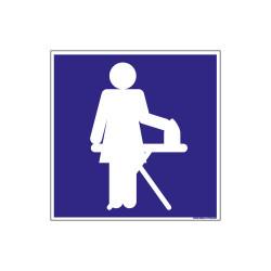 PANNEAU DE SIGNALISATION CAMPING LOCAL REPASSAGE (H0215)