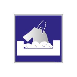 PANNEAU DE SIGNALISATION CAMPING BAC LINGE (H0216)