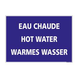 SIGNALISATION EAU CHAUDE (H0219) Français-Anglais-Allemand