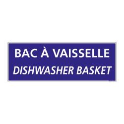 PANNEAU DE SIGNALISATION CAMPING BAC VAISSELLE (H0224)