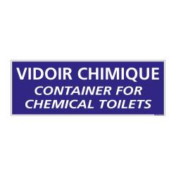 Panneau de Signalisation Camping VIDOIR CHIMIQUE (H0225) Français-Anglais