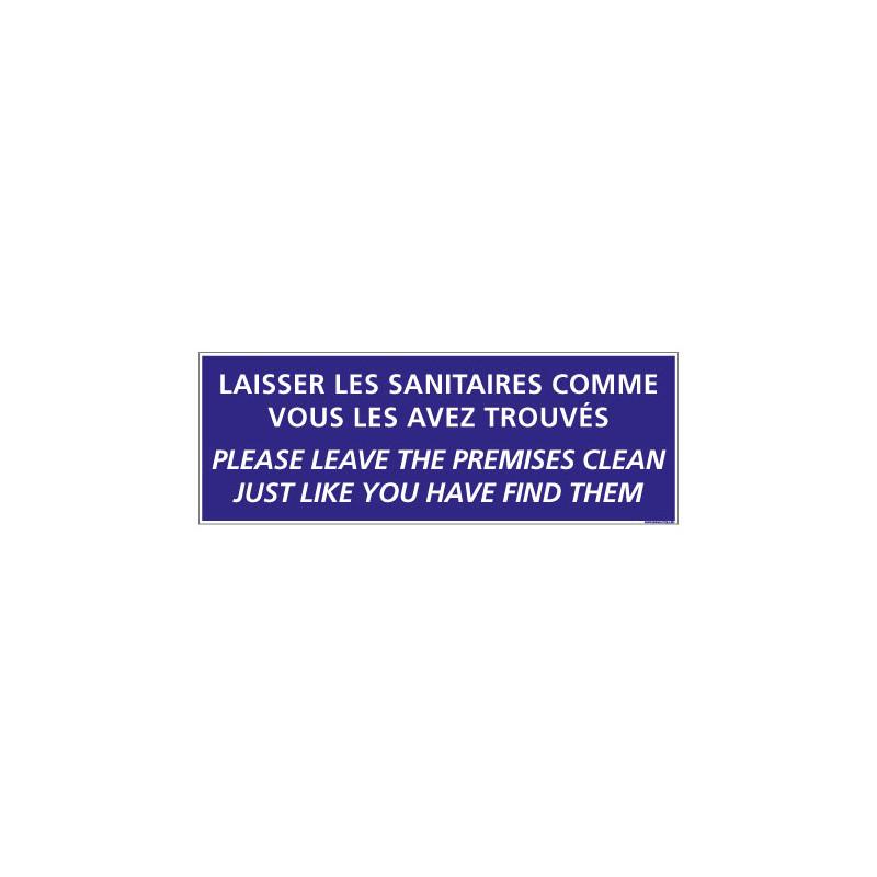 Panneau de Signalisation Camping SANITAIRES (H0227) Français-Anglais