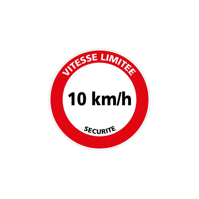 Panneau de signalisation VITESSE LIMITEE 10 KM/H (H0228)