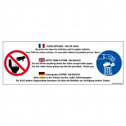 Panneau de signalisation FOSSE SEPTIQUE - PAS DE JAVEL (H0237)