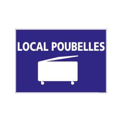 PANNEAU DE SIGNALISATION CAMPING LOCAL POUBELLES (H0242)
