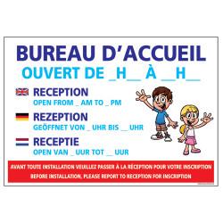 PANNEAU HORAIRES BUREAU D'ACCUEIL (H0294)