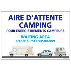 PANNEAU AIRE D'ATTENTE CAMPING (H0298)