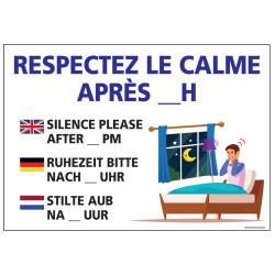 PANNEAU RESPECTEZ LE CALME APRES 23H (H0299)