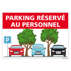 PANNEAU PARKING RESERVE AU PERSONNEL (H0310)