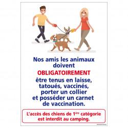PANNEAU ANIMAUX TENUS EN LAISSE (H0311)