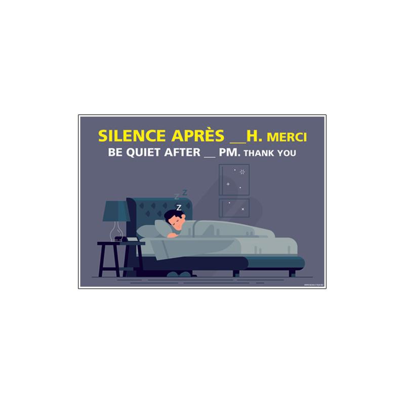 PANNEAU SILENCE APRES ...H (H0320)