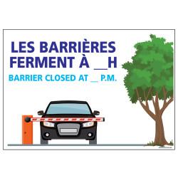 PANNEAU LES BARRIERES FERMENT ...H (H0327)