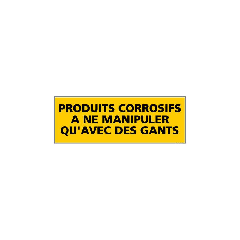 Panneau de Signalisation danger PRODUITS CORROSIFS (C0201)