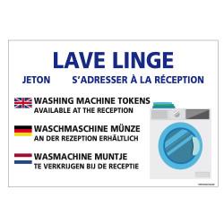 PANNEAU JETON LAVE LINGE (H0330)