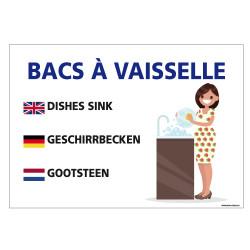 PANNEAU BACS VAISSELLE (H0333)