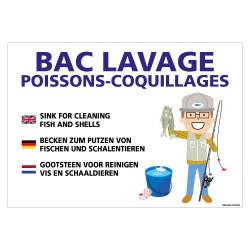 PANNEAU BAC DE LAVAGE POUR CRUSTACES (H0431)