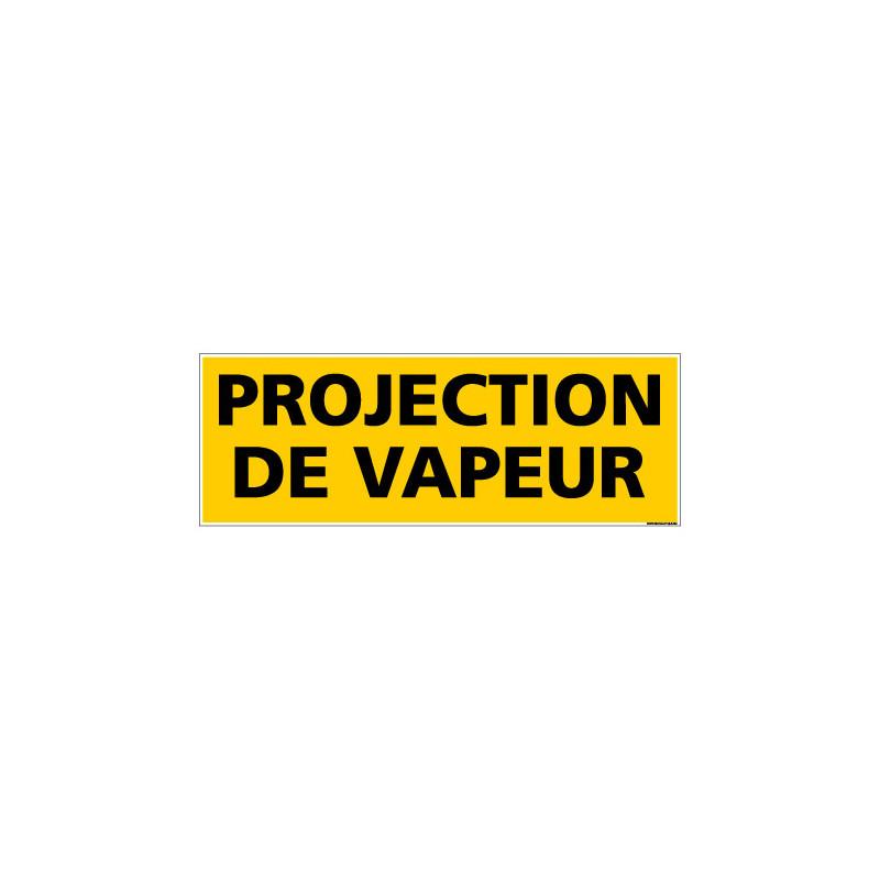 Panneau de Signalisation danger PROJECTION DE VAPEUR (C0202)