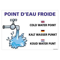 PANNEAU POINT D'EAU FROIDE (H0438)