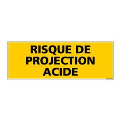 Panneau de Signalisation danger RISQUE DE PROJECTION ACIDE (C0212)