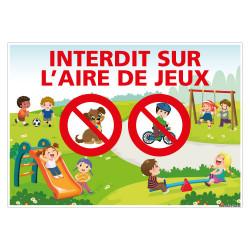 PANNEAU INTERDIT SUR L'AIRE DE JEUX (H0442)