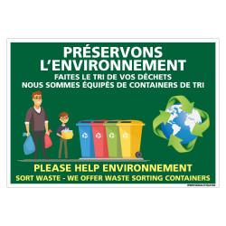PANNEAU PRESERVER L'ENVIRONNEMENT (H0448)