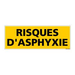 Panneau de Signalisation danger RISQUES D'ASPHYXIE (C0214)