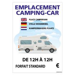 PANNEAU EMPLACEMENT CAMPING-CAR PERSONNALISABLE (H0453)