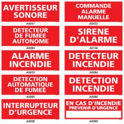 Panneaux d'avertisseur sonore et detecteur