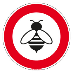 SIGNALETIQUE ATTENTION AUX ABEILLES (D1047)