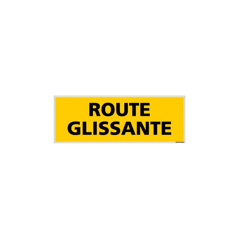 Panneau de Signalisation danger ROUTE GLISSANTE (C0217)
