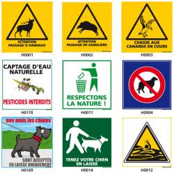 Panneau de Signalisation pour la nature (chien, chasseÖ)