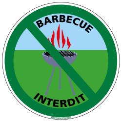 Panneau de Signalisation Barbecue Interdit (H0019)