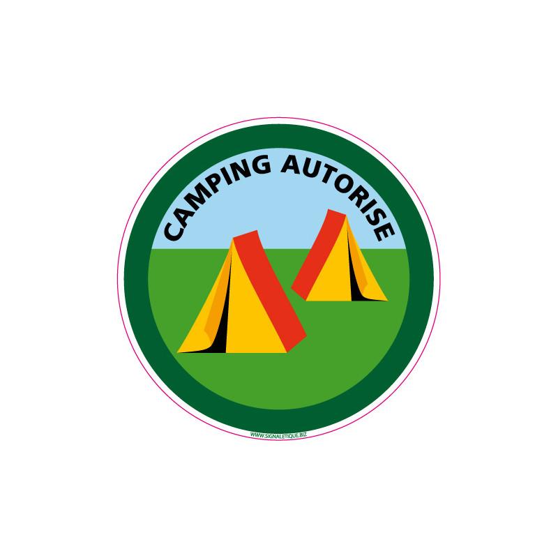 PANNEAU CAMPING AUTORISE (H0020)