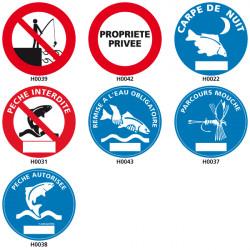 Panneau de Signalisation pour la pêche