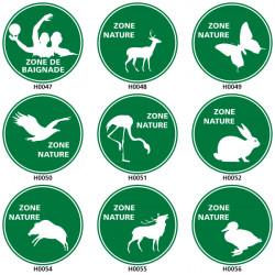 Panneau de Signalisation zone nature