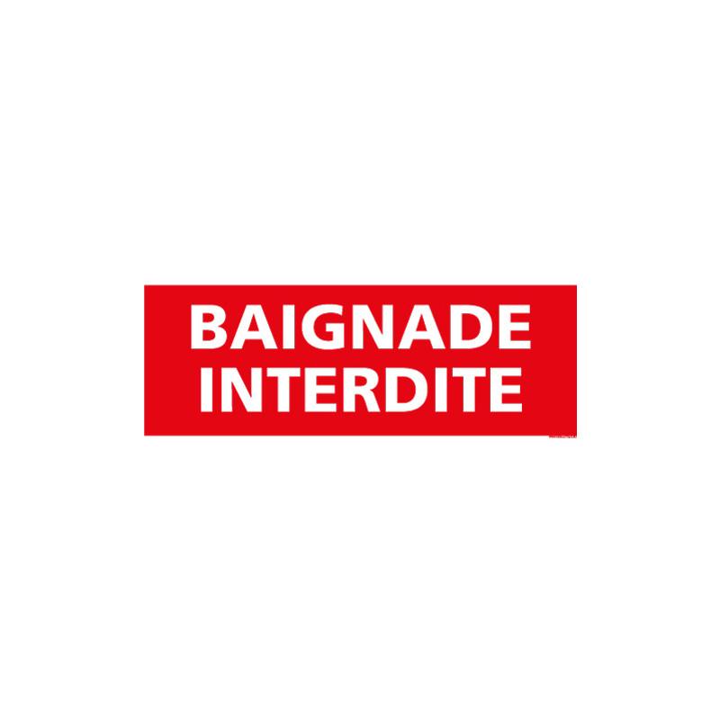 PANNEAU BAIGNADE INTERDITE (H0061)