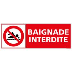PANNEAU BAIGNADE INTERDITE (H0080)
