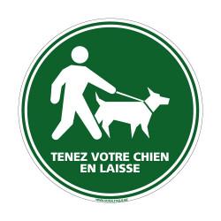 Visuel Tenez votre chien en laisse (H0191)