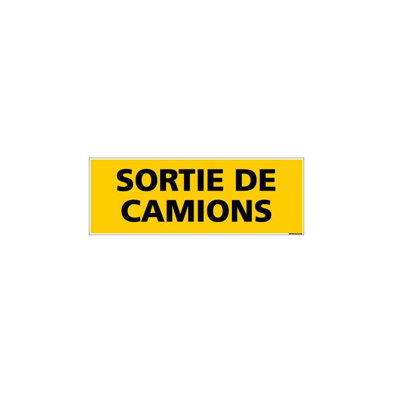 Panneau de Signalisation danger SORTIE DE CAMIONS (C0220)