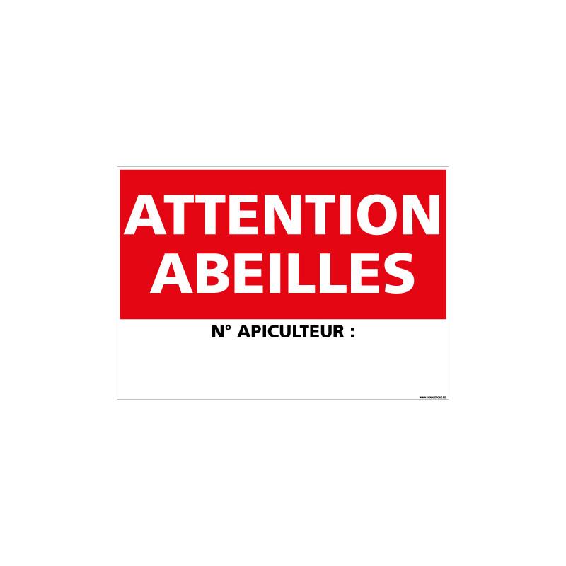 PANNEAU ATTENTION ABEILLES (H0341)