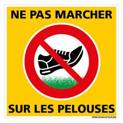PANNEAU DE SIGNALISATION NE PAS MARCHER SUR LES PELOUSES (H0353)