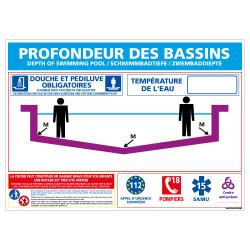 PLAQUE PROFONDEUR DES PISCINES PERSONNALISABLE (D0721-T-PERSO)