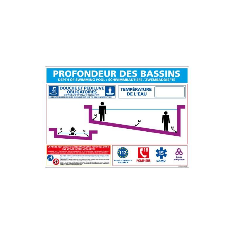 PANNEAU PROFONDEUR PISCINE ET PATAUGEOIRE PERSONNALISABLE (D0721P-PERSO)