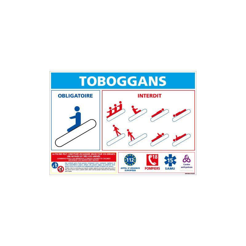 PANNEAU TOBOGGANS PISCINES / CONSIGNE SECURITE (D0723)