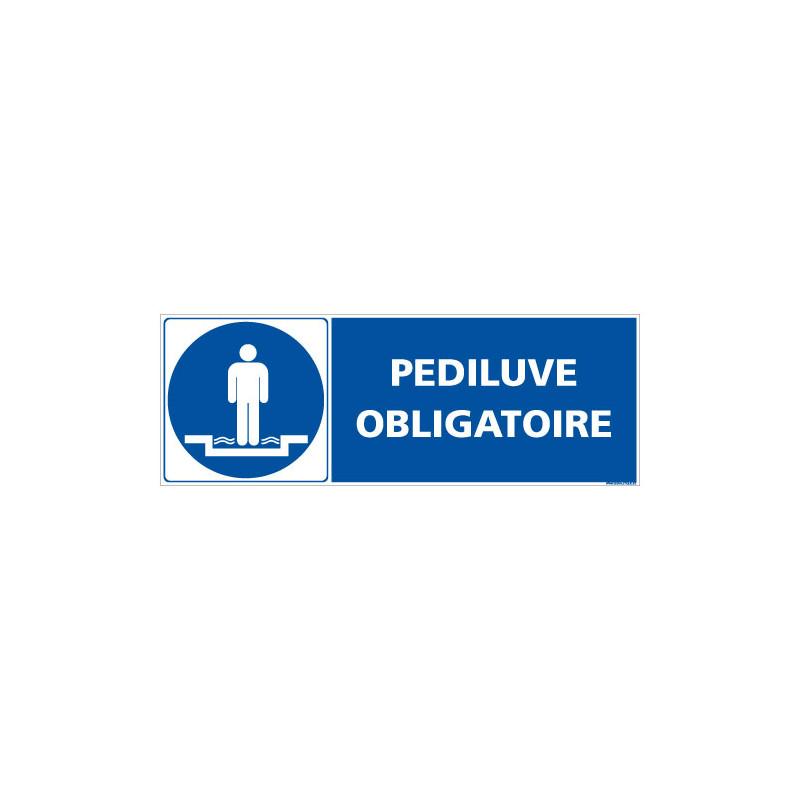 PANNEAU PEDILUVE OBLIGATOIRE (E0651)