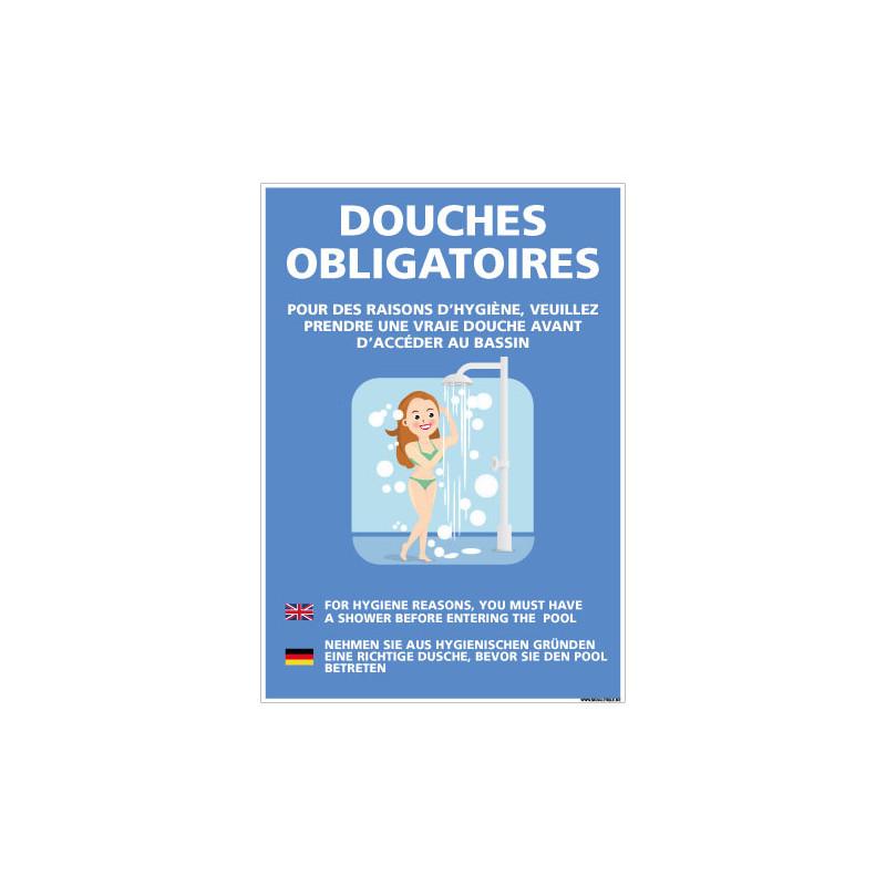 PANNEAU DOUCHES OBLIGATOIRES (H0465)