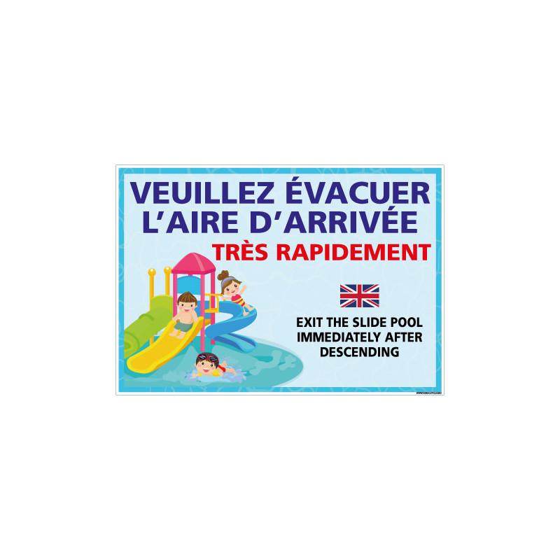 PANNEAU VEUILLEZ EVACUER L'AIRE D'ARRIVEE (H0467)