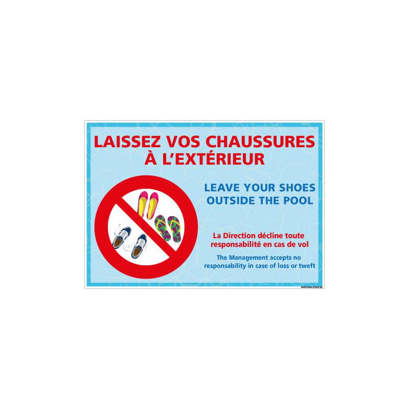 PANNEAU LAISSEZ VOS CHAUSSURES L'EXTERIEUR (H0471)