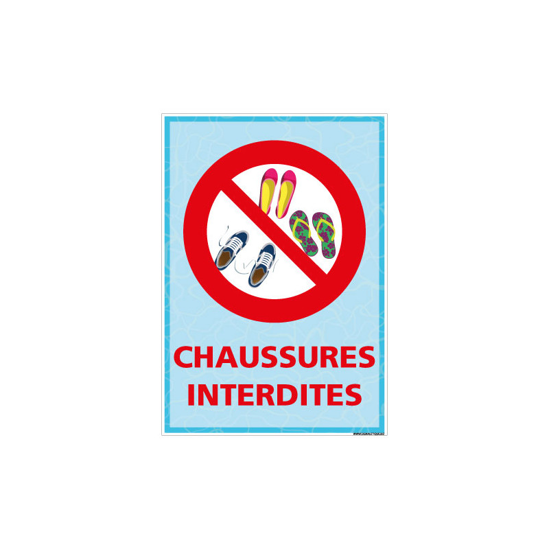 PANNEAU CHAUSSURES INTERDITES (H0473)